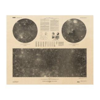 USGS Map of Jupiter Moon Callisto Wood Print