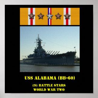 USS ALABAMA (BB-60) POSTER