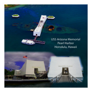 USS Arizona Memorial, Pearl Harbor Views Poster