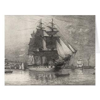 USS Constitution 1911 Card