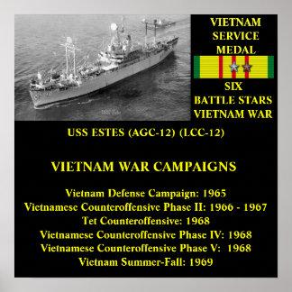 USS ESTES (AGC-12) / (LCC-12) POSTER
