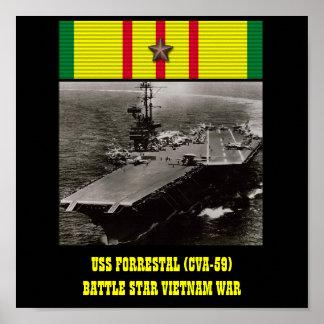 USS FORRESTAL (CVA-59) POSTER