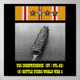 USS INDEPENDENCE  (CV / CVL-22) POSTER