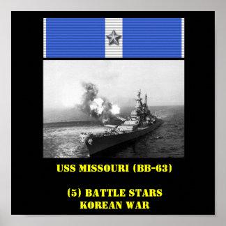 USS MISSOURI (BB-63) POSTER