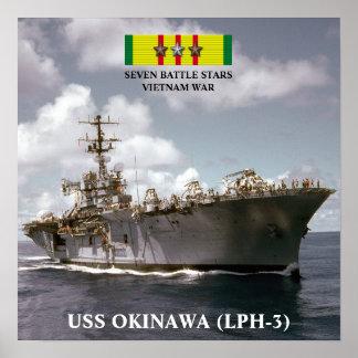 USS OKINAWA (LPH-3) POSTER