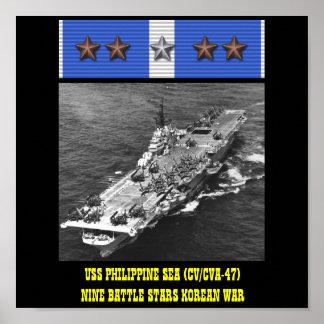 USS PHILIPPINE SEA (CV/CVA-47) POSTER