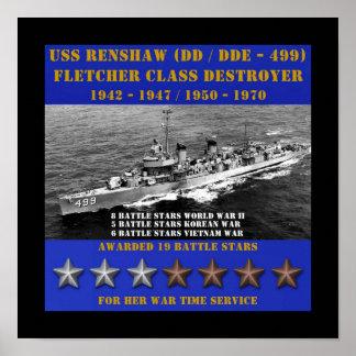 USS Renshaw (DD-499) Poster
