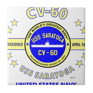 USS SARATOGA CV-60 NAVY CARRIER CERAMIC TILES