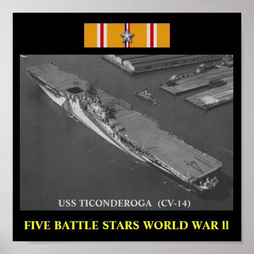USS TICONDEROGA (CV-14) POSTER
