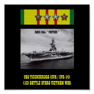 USS TICONDEROGA (CVA / CVS-14)   POSTER