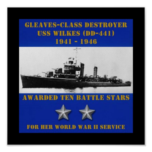 USS Wilkes (DD-441) Print