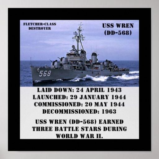 USS Wren (DD-568) Print