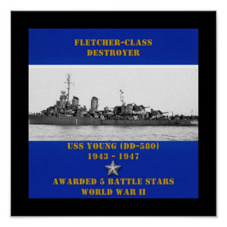 USS Young (DD-580 ) Poster