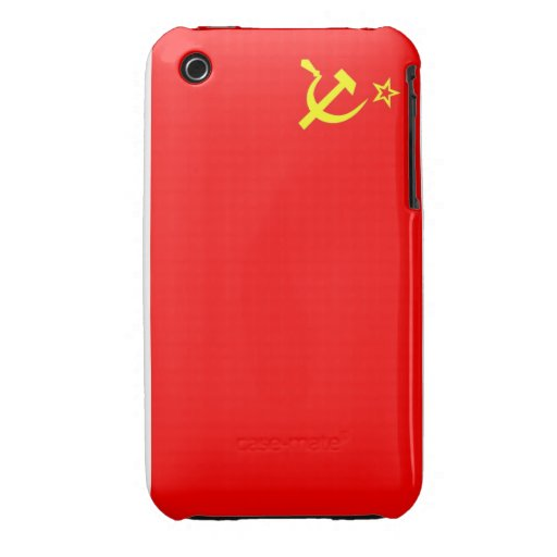ussr russia country communist  soviet flag case iPhone 3 Case-Mate case