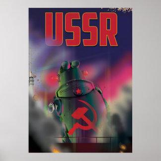 USSR soviet russia cartoon travel poster art.