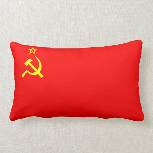 ussr soviet russia communist flag pillow cccp