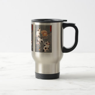 Utagawa Kuniyoshi and Four cats in different poses Travel Mug