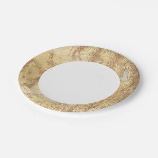 Utah 2 paper plate