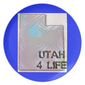 """""""Utah 4 Life"""" State Map Pride Design Plate"""