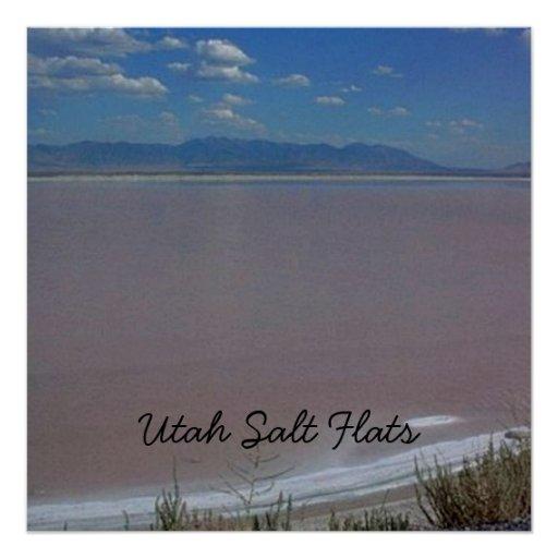 Utah Salt Flats A Perfect Poster