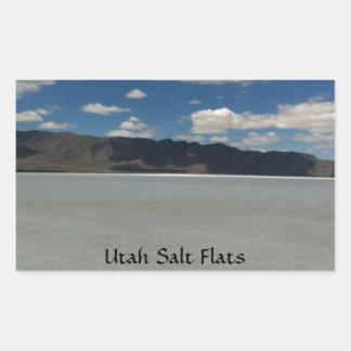 Utah Salt Flats Landscape Rectangular Sticker