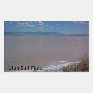 Utah Salt Flats Rectangular Sticker