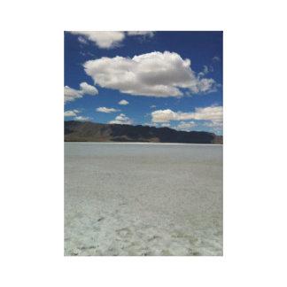 Utah Salt Flats Wrapped Canvas Art Stretched Canvas Print