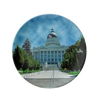 Utah State Capitol Plate