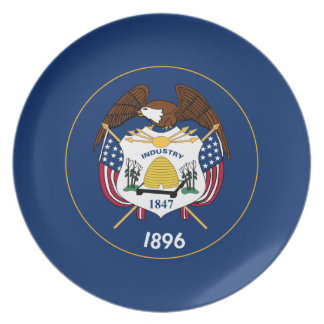 Utah State Flag Plate