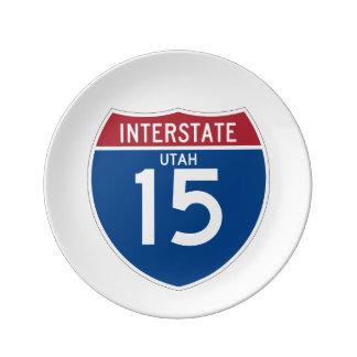 Utah UT I-15 Interstate Highway Shield - Plate