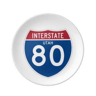Utah UT I-80 Interstate Highway Shield - Plate