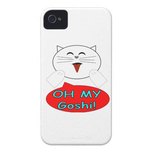 "Utaku Cat ""Oh my goshi"" iPhone 4 Case-Mate Cases"