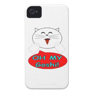 "Utaku Cat ""Oh my goshi"" iPhone 4 Case-Mate Case"
