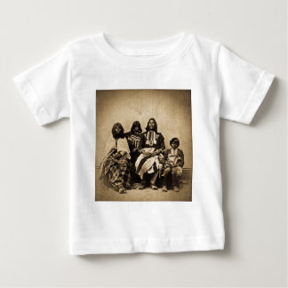 Ute Family Vintage Stereoview Sepia Baby T-Shirt