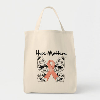 Uterine Cancer Hope Matters Grocery Tote Bag