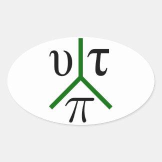 Utopia peace oval sticker
