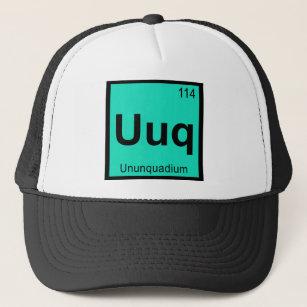 uuq ununquadium chemistry periodic table symbol trucker hat - Periodic Table Symbol Ununquadium
