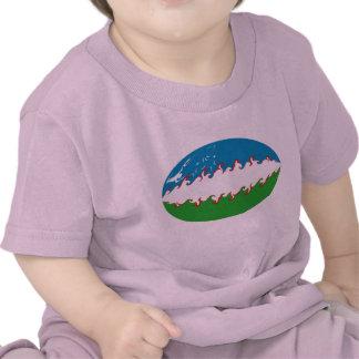 Uzbekistan Gnarly Flag T-Shirt