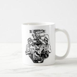 v-8 engine mug