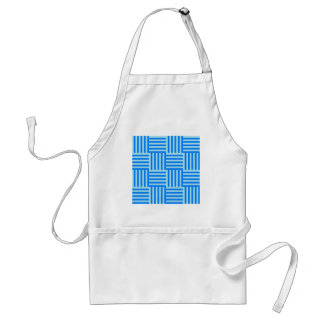 V and H Broad Stripes - Blizzard Blue and Azure Apron