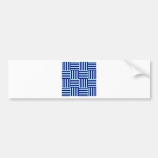 V and H Broad Stripes - Pale Blue and Navy Blue Bumper Sticker
