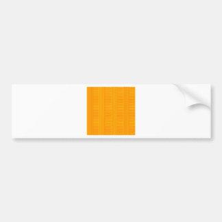 V and H Simple Stripes - Orange and Amber Bumper Sticker
