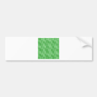 V and H Stripes - Offwhitegreen and Green Car Bumper Sticker