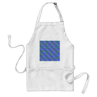V and H Stripes - Pale Blue and Navy Blue Apron