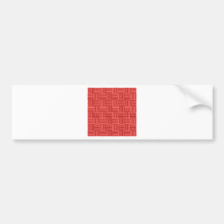 V and H Stripes - Pastel Red and Firebrick Bumper Sticker