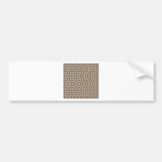 V and H Wide Zigzag - Almond and Cafe Noir Bumper Sticker