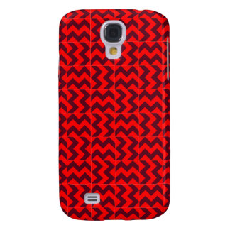 V and H Wide Zigzag - Red and Dark Scarlet Galaxy S4 Case