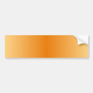 V Bi-Linear Gradient-Light Orange and Dark Orange Bumper Sticker