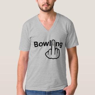 V-Neck Bowling Flip T-Shirt