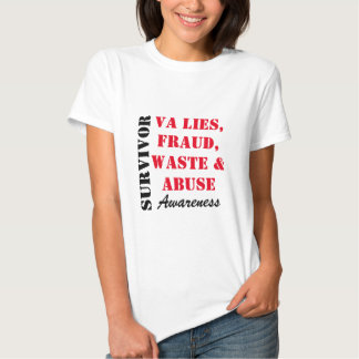 VA LIES, FRAUD, WASTE & ABUSE (FRONT AND BACK) TEE SHIRT
